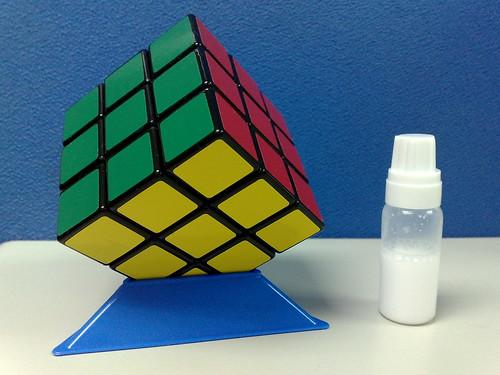 小丸號台製紳藍軸心3x3魔術方塊(綠紅黃面)
