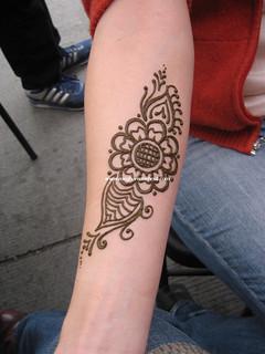 Arabic floral piece