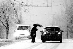 Snow in Brno