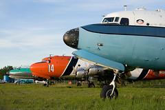 DC-4s!! (Jason Pineau) Tags: airplane buffalo aircraft aviation airways douglas skymaster dc4 c54 hayriver yhy cyhy