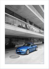 leutschenbach II__back to school (Toni_V) Tags: blue school car architecture d50 concrete schweiz switzerland suisse zurich bmw zürich schoolhouse z3 roadster colorkey selectivecolors toniv kerez 090701 christiankerez dsc0093