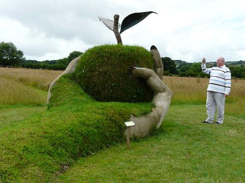'Femal hand holding an apple' - Garden Sculpture by Brendon Murless 3713422308_a3212a0b75
