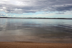 the gift of silence (Lulybelle) Tags: sky water clouds sand australia victoria lakevictoria smorgasbord supershot flickrsbest eastgippsland gununeniyisi winter09