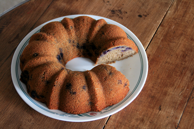 Blueberry Buckwheat Cake