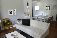 Tracy's House (simplygrove) Tags: wool livingroom couch tufted moderneclecticikeablackwhitevintagedesigndecor