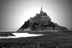 Le Mont St Michel View (tallpomlin) Tags: white black france macro ex st canon french eos mono sigma apo michel mont 1850 40d