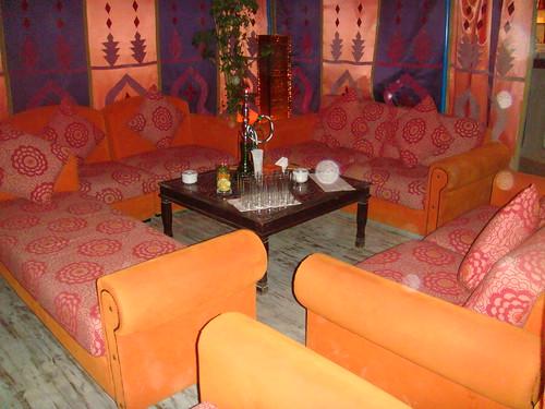 Interior de una jaima