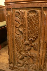C16 carved bench end