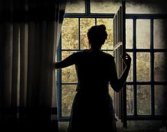 (DeLaRam.) Tags: green window girl waiting you edited come tomorrow textured انتظار بارانکهمیباردتومیآیی یهروزازهمینروزاتـــومیآیی فريدونفروغی
