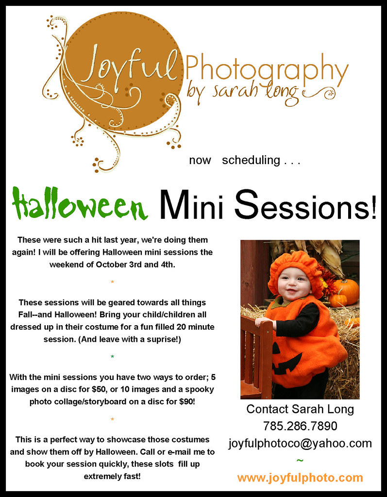 Mini Session Flyer - Halloween.
