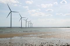 Wind park (Andr Hofmeister) Tags: sea beach strand meer sigma northsea fjord lowtide danmark nordsee watt limfjord ebbe tidelands windpark thyborn danemark 1850mmf28exdcmakro nissumbredning