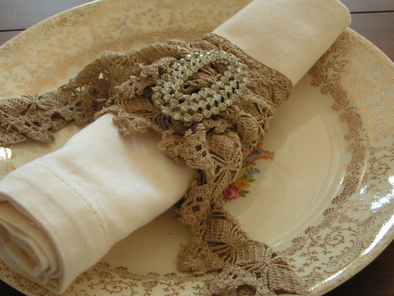 lace napkin ring by Andrea Singarella