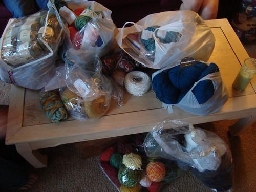 the yarn pile