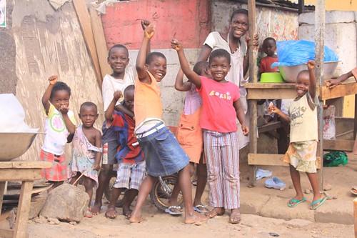 Usher Town kids. Accra, Ghana.