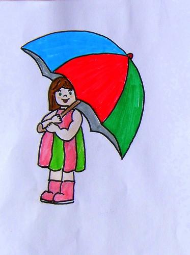La historia de la niña de las katiuskas y el paraguas