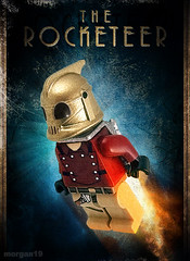 The Rocketeer (Morgan190) Tags: flying lego artdeco decal minifig custom jetpack swoosh rocketeer steampunk m19 minifigure skyfi morgan19 virtualdecal owwmyfeet