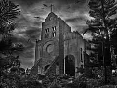 Caleruega (Gilbert Rondilla) Tags: camera wedding sky bw white black texture church monochrome birds vertical architecture clouds point photo nikon shrine shoot gloomy philippines chapel monotone explore gilbert filipino batangas venue digicam tagaytay notmycamera own hilltop pinoy s10 caleruega borrowedcamera nasugbu pns rondilla transfigurationchapel notmyowncamera platinumheartaward gilbertrondilla gilbertrondillaphotography luisianian pkebtagaytay pkebphotowalk