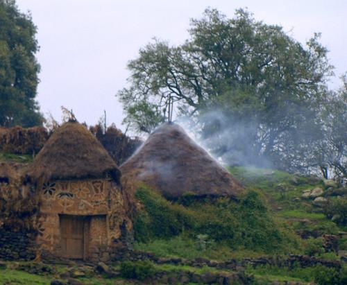 Aldea entre Addis Abeba y Debre Birham