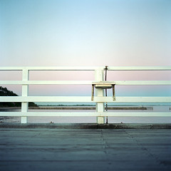 What For (Peter J Wilson) Tags: sky 120 film twilight fishing colours sink kodak dusk pastel jetty bronica tap sq ektar