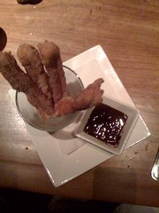 Churros and chocolate.