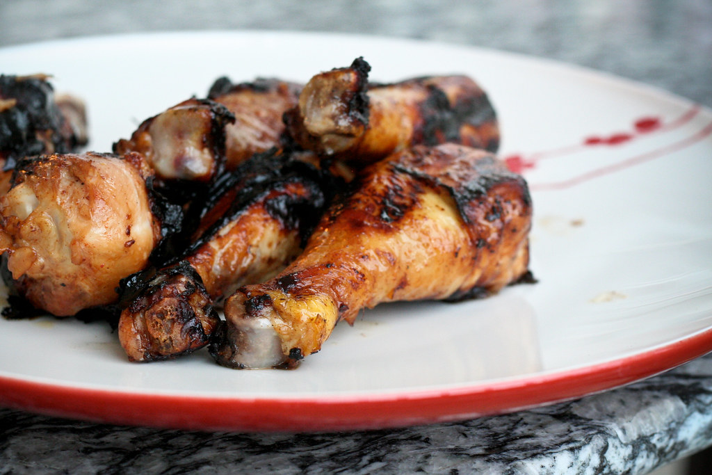 Grilled Honey Garlic Wings