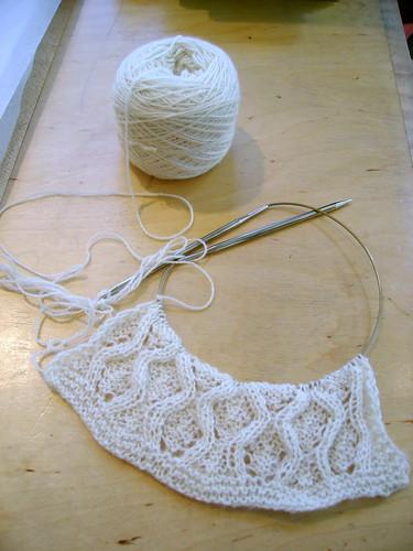 Cashmere cocoon lace