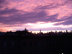 A superbly superb sunset with mammatus clouds. (yankeesmann1918) Tags: nyc sunset skyline clouds thunderstorm mammatus
