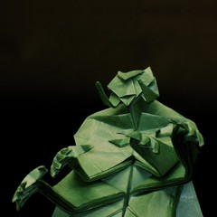 Tars Tarkas (1) (the real juston) Tags: green john paper origami rice burroughs edgar carter papiroflexia challenge monthly folding martian tars barsoom thark juston  tarkas aprincessofmars jeddak