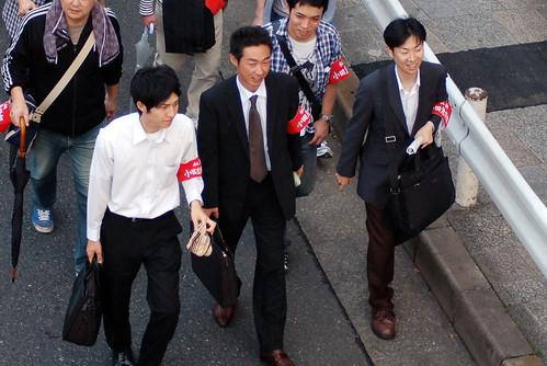 Anti-nuclear salarymen