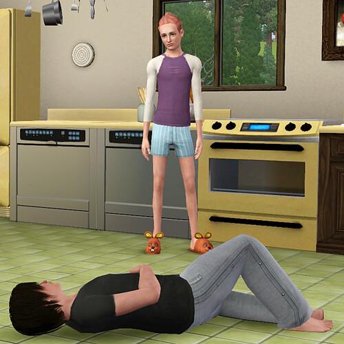 Skylar puts Michael to sleep