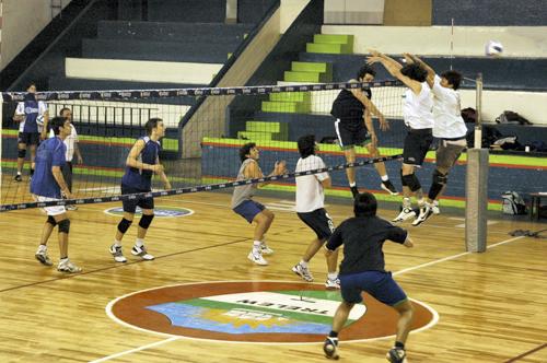 Entrenamiento de Chubut Volley