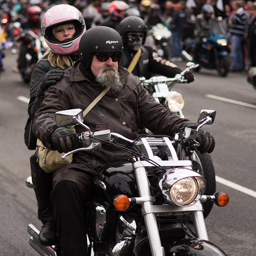 Pink-Helmeted Pillion Passenger