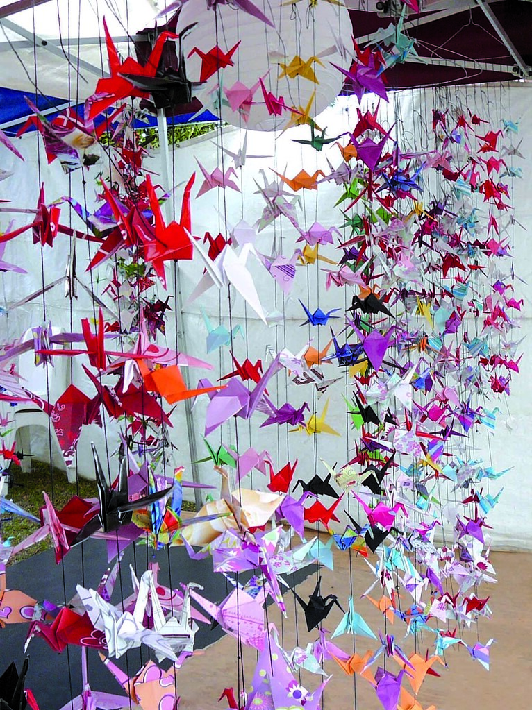 Chinese theme party decorations for 1000 paper cranes wedding decoration