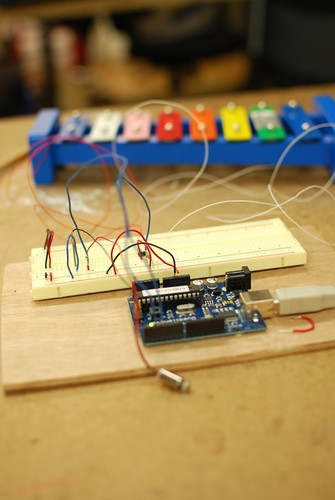 Instrumented Xylophone with Arduino