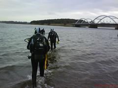 Og så var det ellers bare ud på det dybe - vi kom 4-5 meter ned