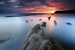 Collywell Bay (Alistair Bennett) Tags: longexposure seascape sunrise coast rocks cliffs northumberland polarizer seatonsluice canonefs1022 collywellbay charleysgarden gnd09he gnd03he
