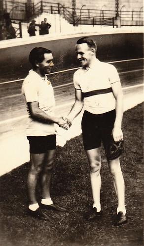 Maurice Archambaud en Frans Slaats (r)