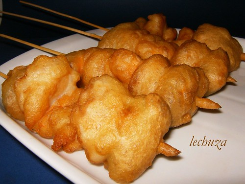 Pinchos tempura-cerca