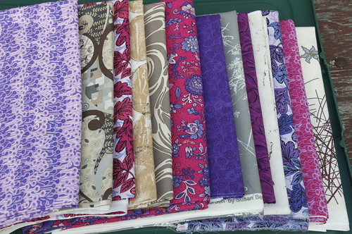 Fabric choices for Cheryl's Rail Fence quiltalong