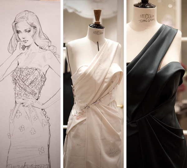 christian dior, artisanat, james bort, dior couture, montaigne, atelier flou, robe, galliano