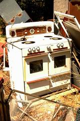 Old a$$ Stove (Chocolate Super Nova) Tags: old trash fridge junk rust rusty