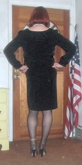 2-19-2 (prettysissydani) Tags: black crossdressing redhead littleblackdress
