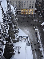 Vienna from above (dimitra_milaiou) Tags: vienna wien life road above city winter people white snow art history church window car architecture landscape grey lights austria europe view cathedral sony small chapel viena emotions vienne wenen dimitra dscp93a  globalinterest milaiou