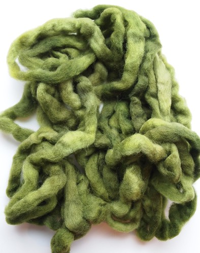 SCF-shop update-Perendale Carded Roving-Green Tea
