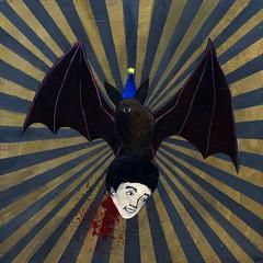 happy birthday bat (JonHiokiArt&Design) Tags: art illustration painting jon acrylic bat hioiki