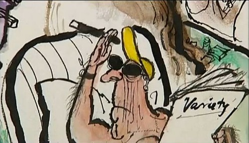 Man with cigar from cartoon by Searle
