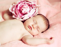Carolina (JarkaOnd) Tags: pink baby flower canon child softness innocent sleepy babygirl newborn littlebaby artisticchildrenportraits