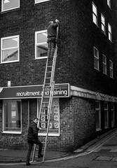2017_40 (Chilanga Cement) Tags: fuji fujifilm fijinon x100t xseries x100s x100 bw blackandwhite monochrome steps men ladder drilling bricks windows window