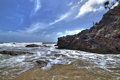 Kemasik Beach Part 9 (Firdaus Mahadi) Tags: blue sky people cloud beach nature water rock stone clouds digital landscape landscapes fishing scenery rocks waves skies natural stones air laut wave views malaysia beaches gunung awan ultrawide dri batu pulau orang pantai kemasik terengganu manusia langit pemandangan ombak uwa dynamicrangeincrease ultrawideangle kemaman digitalblending memancing pantaikemasik visitterengganu vertorama kemasikbeach tokina1116mmf28 firdausmahadi firdaus