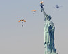 Parachutes over the Statue of Liberty (noamgalai) Tags: nyc usa ny newyork man plane soldier army liberty us photo jump war picture photograph soldiers hudsonriver hudson statueofliberty airforce parachute צילום תמונה parachutes goldenknights נועם noamg parachuters noamgalai נועםגלאי גלאי milatery